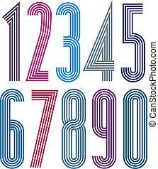 διακοσμητικός , αφίσα , numbers., ευφυής , ραβδωτός , γεωμετρικός