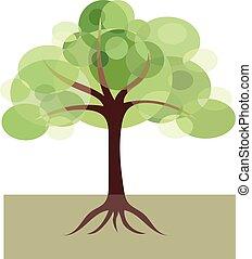 διακοσμητικός , εικόνα , δέντρο