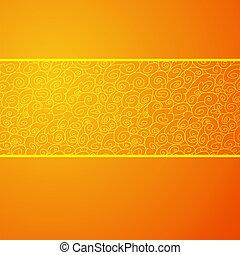 διακοσμητικός , εικόνα , κύμα , φόντο. , μικροβιοφορέας , πορτοκάλι , οριζόντιος