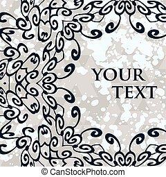διακοσμητικός , κορνίζα , text., στρογγυλός , μικροβιοφορέας , mandala , δικό σου