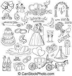 διακοσμητικός κύριο εξάρτημα , συλλογή , χέρι , σχεδιάζω , γάμοs , μετοχή του draw