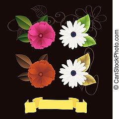 διακοσμητικός , λουλούδια , vectors