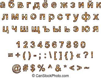 διακοσμητικός , ρώσσος , hand-drawn, μικροβιοφορέας , αλφάβητο