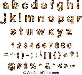 διακοσμητικός , hand-drawn, μικροβιοφορέας , αλφάβητο , αγγλικός