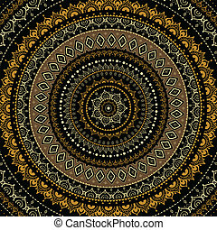 διακοσμητικός , mandala., ινδός , pattern.
