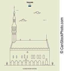 διακριτικό σημείο , αίθουσα , estonia., tallinn , πόλη , εικόνα