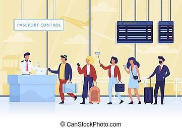 διακόπτης , ουρά , αεροδρόμιο , διαβατήριο