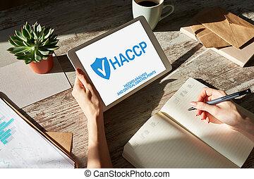 διακόπτης , industry., διεύθυνση , haccp, δικάζω , βεβαίωση , - , point., μέτρο , τροφή , επικριτικός , ανάλυση , κίνδυνοs , ποιότητα