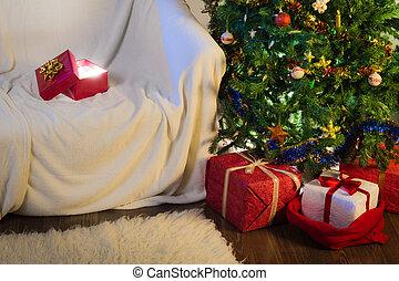 διακόσμηση , βράδυ , xριστούγεννα