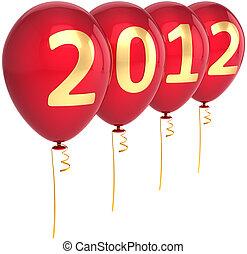 διακόσμηση , καινούργιος , 2012, μπαλόνι , έτος