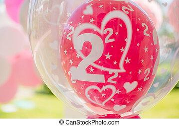 διακόσμηση , πάρτυ , γενέθλια , μπαλόνι , κήπος