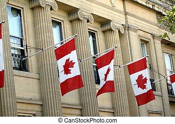 διακόσμηση , σημαίες , καναδικός