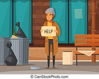 διαμέρισμα , έκθεση , άστεγοι άνθρωποι