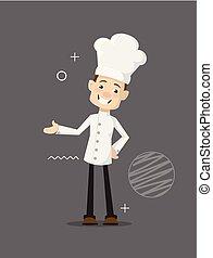 διαμέρισμα , αρχιμάγειρας , εικόνα , ιλαρός , μικροβιοφορέας , σχεδιάζω , γελοιογραφία