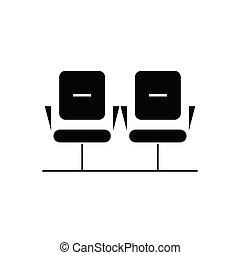 διαμέρισμα , γενική ιδέα , δωμάτιο , εικόνα , σήμα , αναμονή , μικροβιοφορέας , μαύρο , icon.