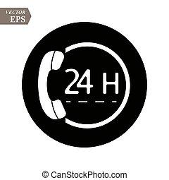 διαμέρισμα , εικόνα , 24h, μικροβιοφορέας , καλώ , icon., design.
