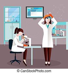 διαμέρισμα , επιστήμονες , έκθεση , άνθρωποι