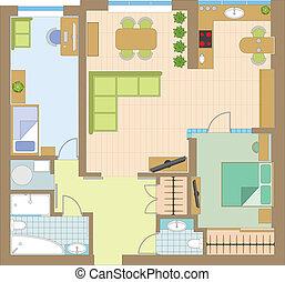 διαμέρισμα , ζωγραφική