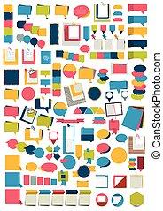 διαμέρισμα , θέτω , elements., μεγάλος , infographics, υπενθύμιση , stickers.