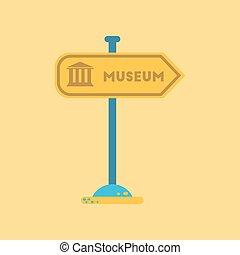 διαμέρισμα , μουσείο , εικόνα , φόντο , σήμα
