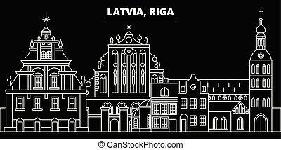 διαμέρισμα , περίγραμμα , περίγραμμα , πόλη , εικόνα , - , αρχιτεκτονική , riga , απεικόνιση , landmarks., ανέγερση. , μικροβιοφορέας , latvian , skyline., γραμμή , σημαία , ταξιδεύω , λατβία , γραμμικός
