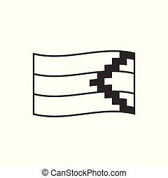 διαμέρισμα , περίγραμμα , σημαία , δημοκρατία , artsakh, σχεδιάζω , εικόνα , μαύρο