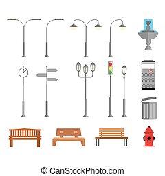 διαμέρισμα , ρυθμός , στοιχεία , αστικός δρόμος , εικόνα , αναθέτω διάταξη , μικροβιοφορέας , eps10., ή , park.