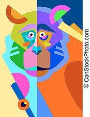 διαμέρισμα , ρυθμός , τέχνη , μαϊμού , αφαιρώ , κρότος , ζωγραφική , πρωτότυπο