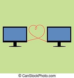 διαμέρισμα , ρυθμός , υπολογιστές , συνδεδεμένος , καρδιά