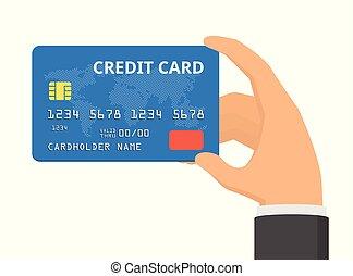 διαμέρισμα , card., εικόνα , χέρι , πιστώνω , μικροβιοφορέας , σχεδιάζω , κράτημα