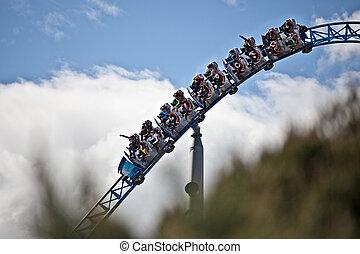 διαμέσου , οδηγώ , rollercoaster