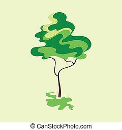 διαμορφώνω κατά ορισμένο τρόπο , δέντρο