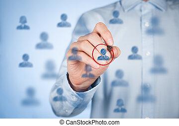 διαφήμιση , segmentation, αρχηγός