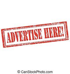 διαφημίζω , here!-stamp