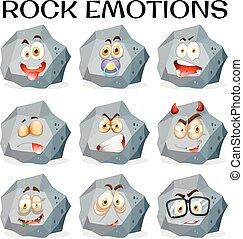 διαφορετικός , εκφράσεις , του προσώπου , βράχοs