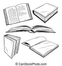 διαφορετικός , θέτω , εικόνα , φόντο. , μικροβιοφορέας , αγία γραφή , άσπρο