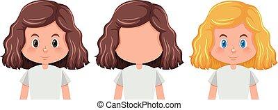 διαφορετικός , θέτω , hairstyle , κορίτσι