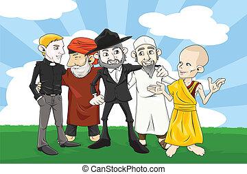 διαφορετικός , θρησκεία , άνθρωποι