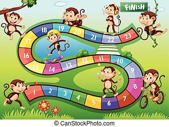διαφορετικός , μαϊμούδες , ενέργειες , boardgame