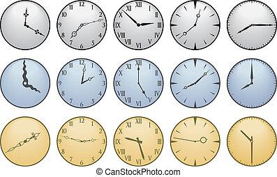 διαφορετικός , ρολόι , δεκαπέντε , αντικρύζω