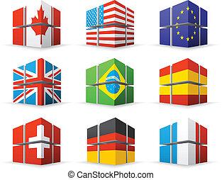 διαφορετικός , σημαίες
