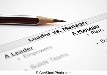 διαχειριστής , vs , αρχηγός