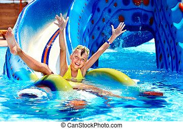 διαύγεια βαίνω ομαλά και συνεχώς , παιδί , aquapark.