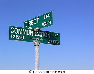 διευθύνω , επικοινωνία