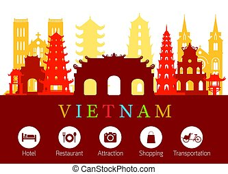 διευκόλυνση , αξιοσημείωτο γεγονός , vietnam , γραμμή ορίζοντα , απεικόνιση
