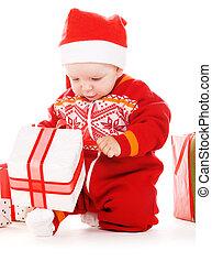 δικαίωμα παροχής , μωρό , santa , βοηθός , xριστούγεννα