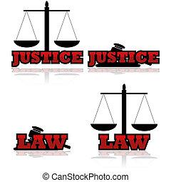 δικαιοσύνη , απεικόνιση