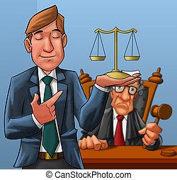 δικαστήs , δικηγόροs