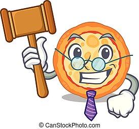 δικαστήs , ό pizza , χαρακτήρας , πιάτο