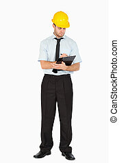 δικός του , βλέπω , clipboard , ελκυστικός , επιστάτης , νέος